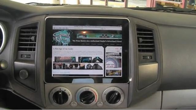 The guys at Sound Man Car Audio have installed an iPad into their dashboard.