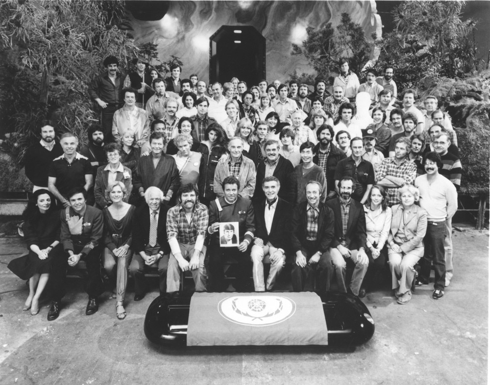 The cast and crew of 'Star Trek II'