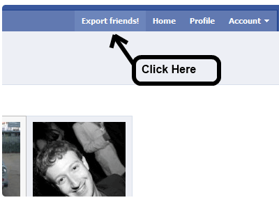 Mohamed Mansour's Facebook friend export tool