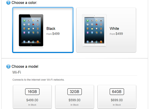 No more wait time for the 4th-gen iPad.