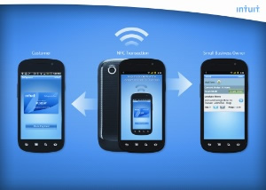 A concept of Intuit's NFC-enabled GoPayment system.
