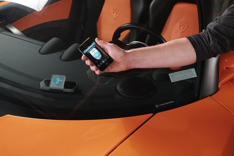 Peer-to-peer car sharing service Getaround uses its Getaround Car Kit and iPhone app to let members rent vehicles.
