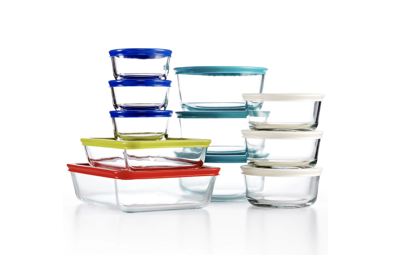 A 22-piece set of Pyrex glass containers is $29 today (save $43)