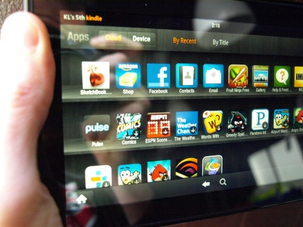 Amazon Kindle Fire Apps tab