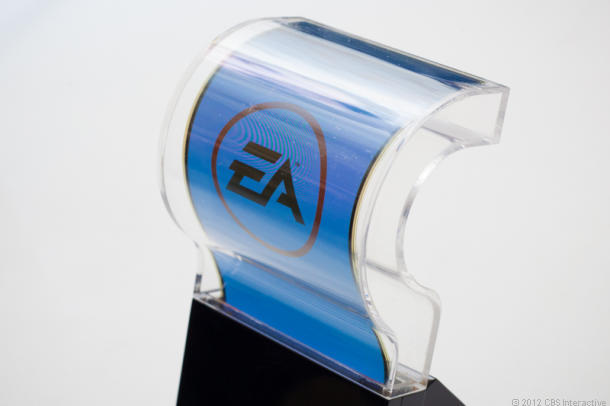 A flexible OLED display inside protective covering.