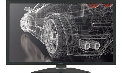 The Sharp 32-inch PN-K321 display boasts  3,840x2,160 resolution.  It was briefly posted for sale on Apple European online sales sites.