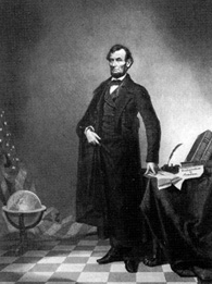 This lithograph from about 1860 turned out to be Abraham Lincoln's head on top of the body of former U.S. Vice President John Calhoun.