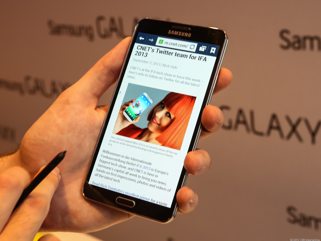 The Samsung Galaxy Note 3 packs 3GB of memory -- which is pushing toward the upper limit for 32-bit processors.