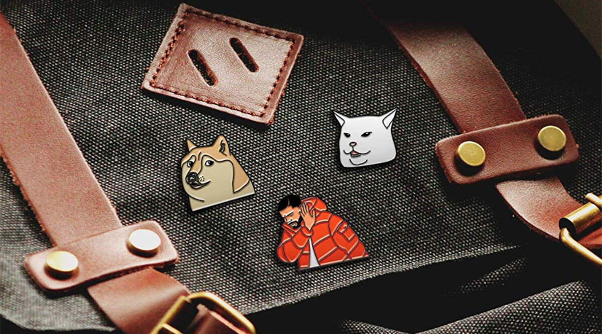 A collection of 7 pins honoring your favorite memes