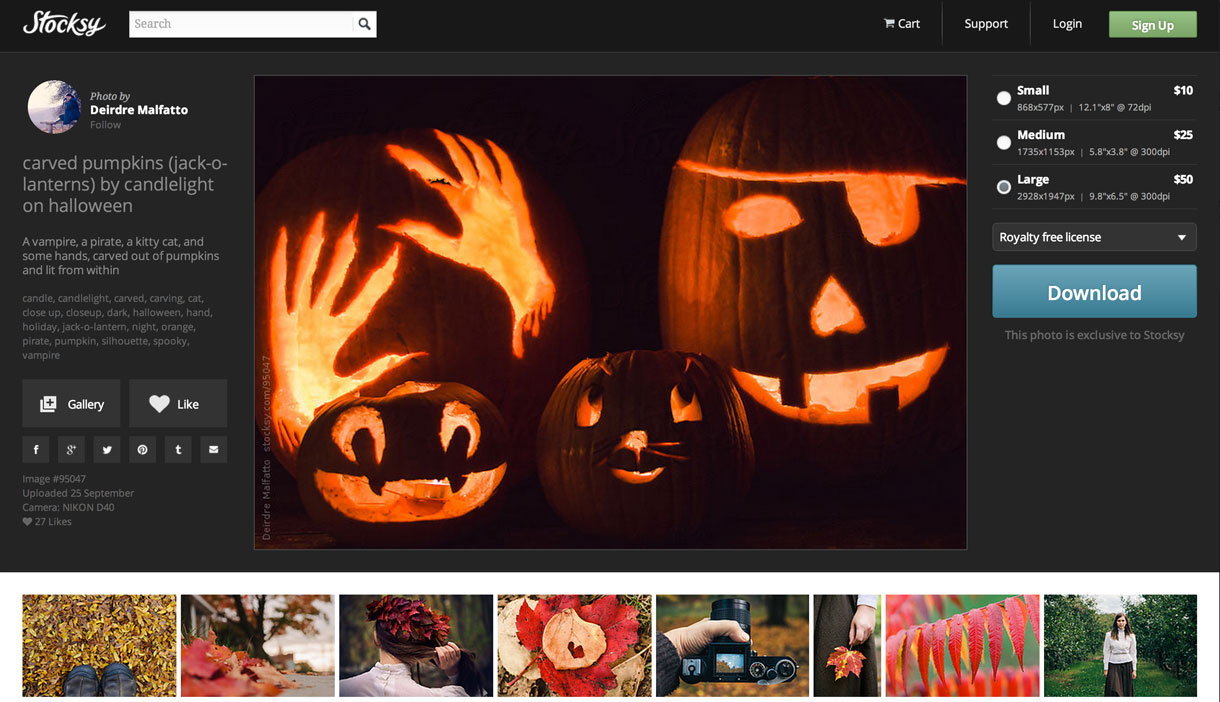 A Halloween photo for sale on Stocksy.