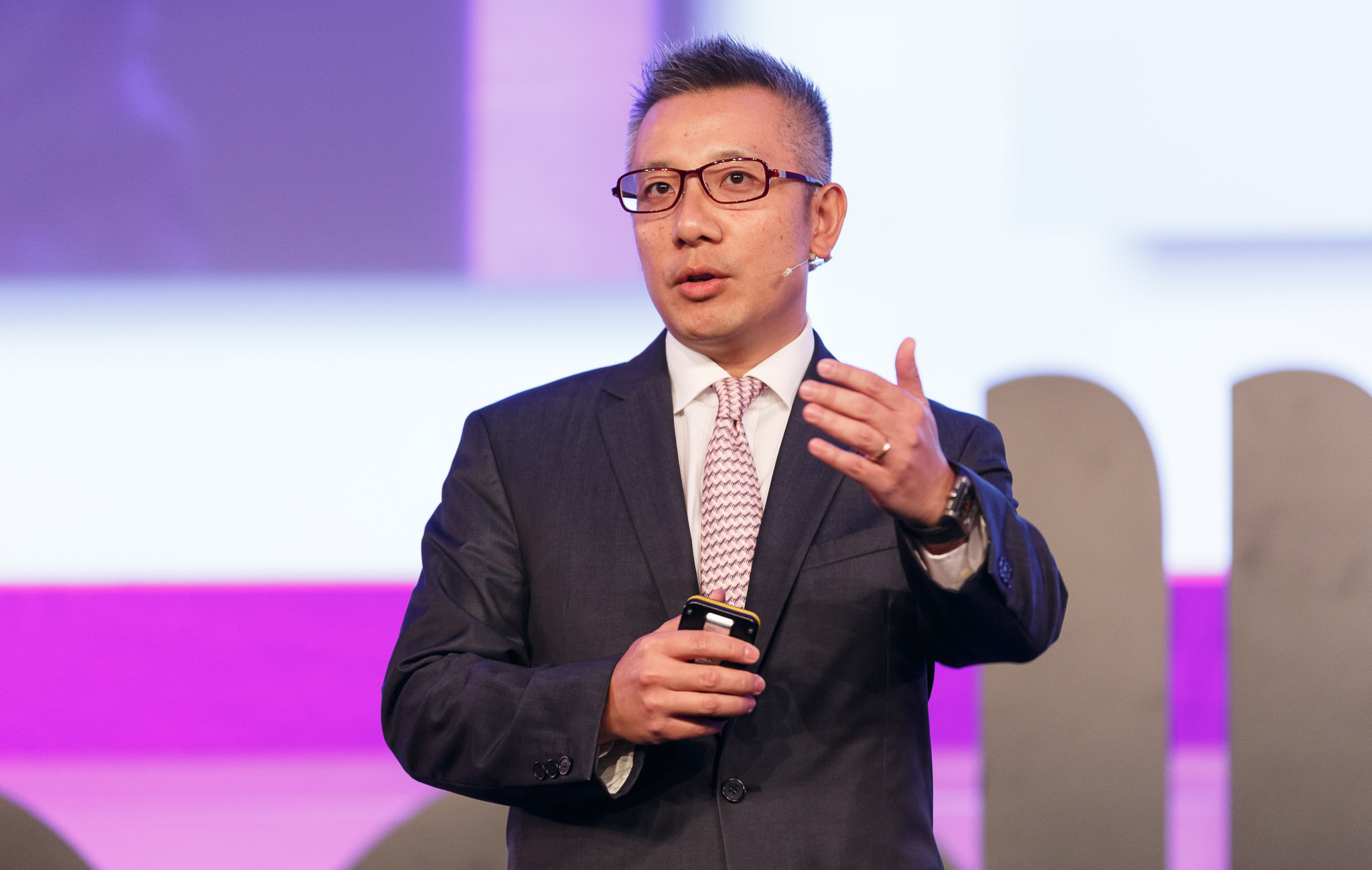 Wing Lee, CEO of YTL Communications, speaking at Broadband World Forum 2013 in Amsterdam.