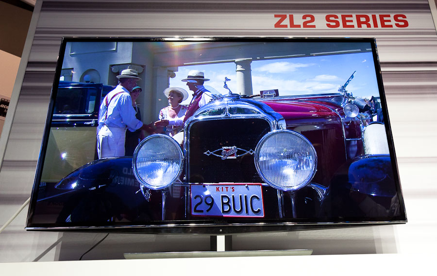 Toshiba's 55LZ2 3D TV doesn't require any glasses to watch 3D TV.