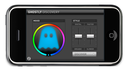 Ghostly Discovery running on an Apple iPhone.