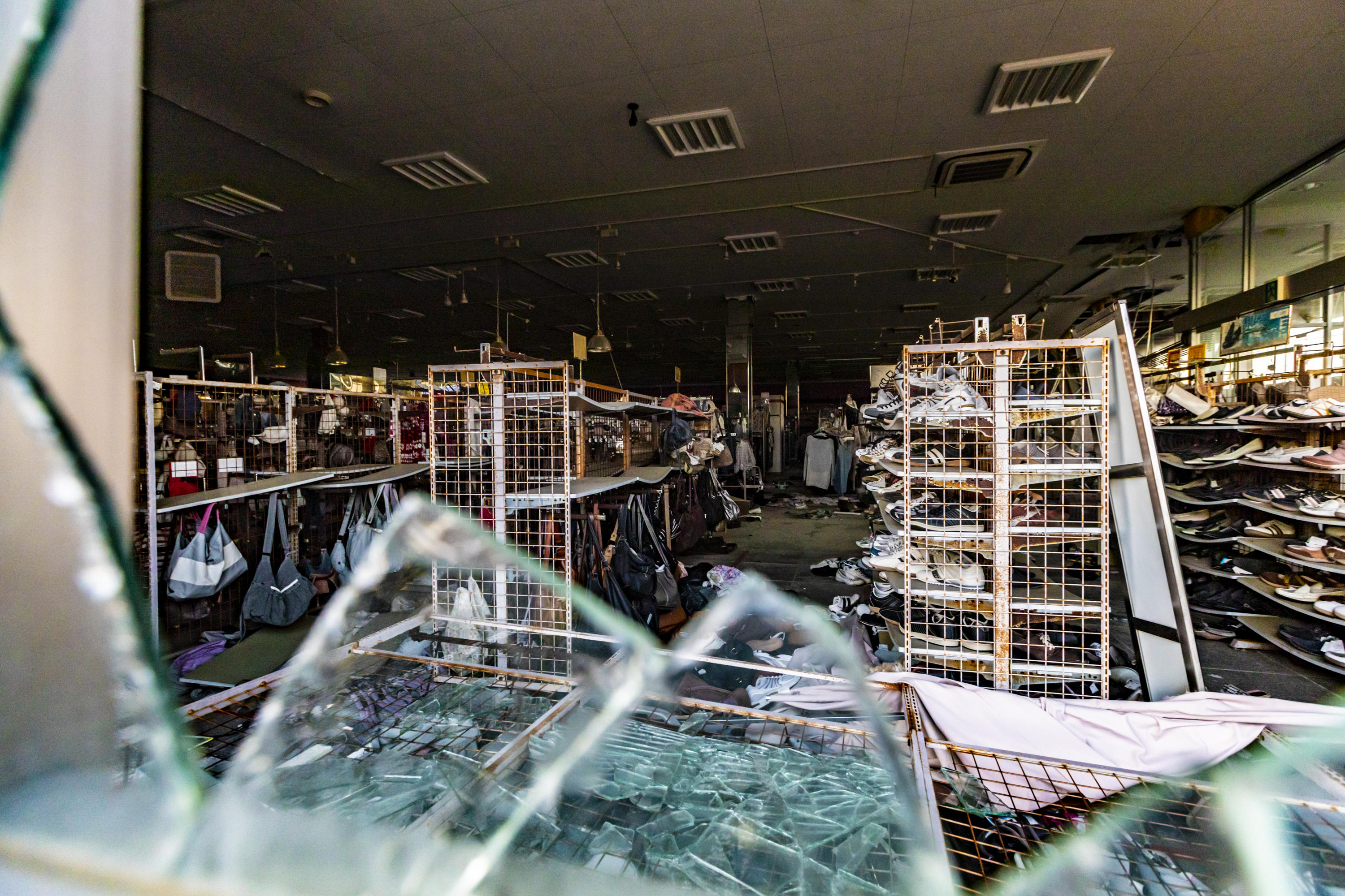 Abandoned clothing store in Fukushima prefecture, Japan