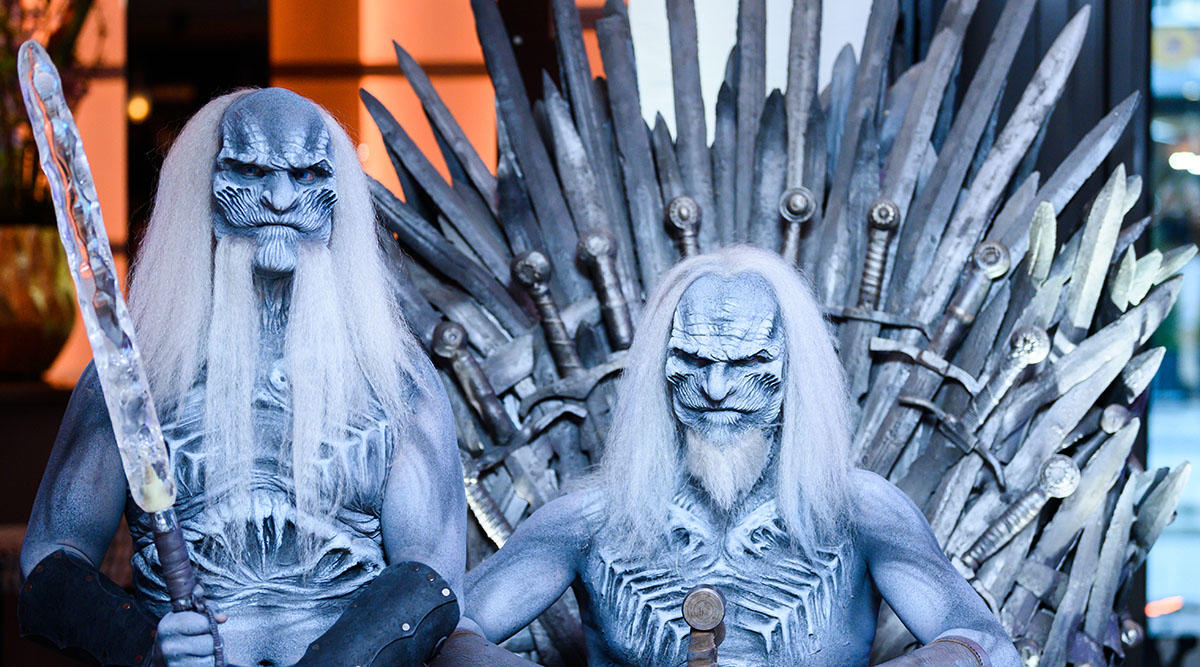White Walkers on the Iron Throne