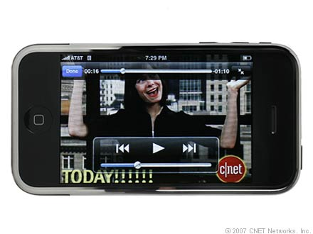 The iPhone's wide screen lends itself very well for video viewing.