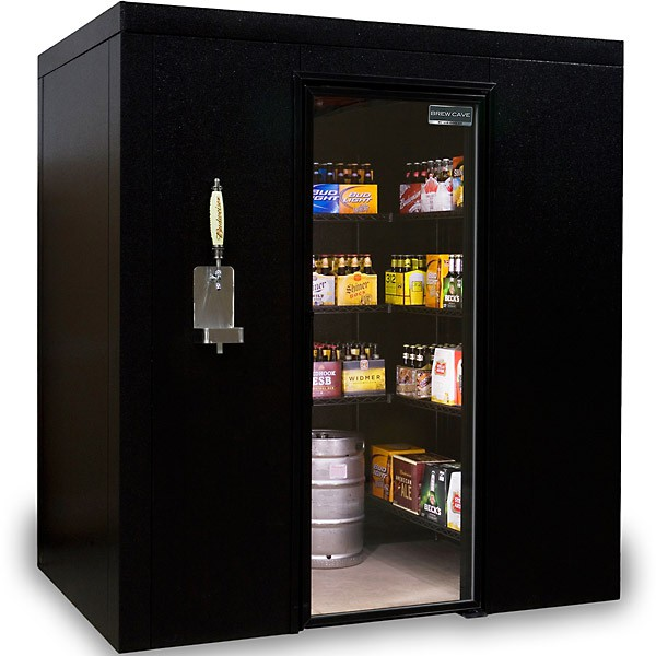 Walk-In Beer Cooler and Kegerator