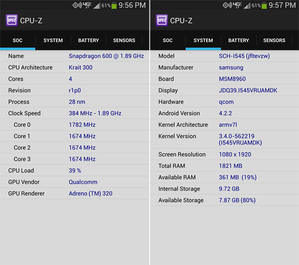 CPU-Z SOC and System