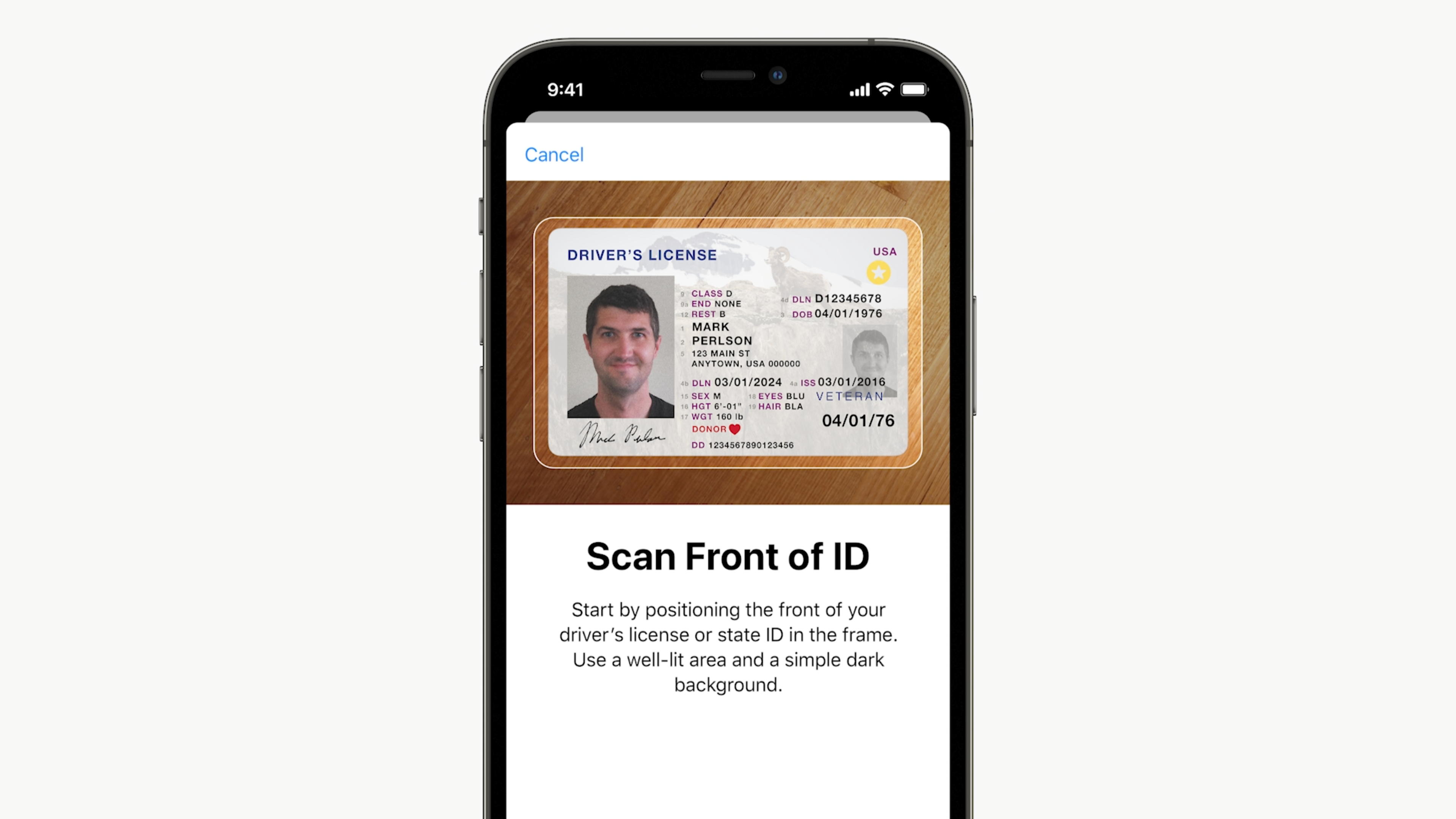 Apple Wallet iOS 15 driver's license