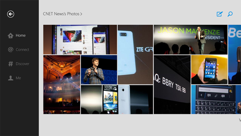 Twitter for Windows 8 photo grid