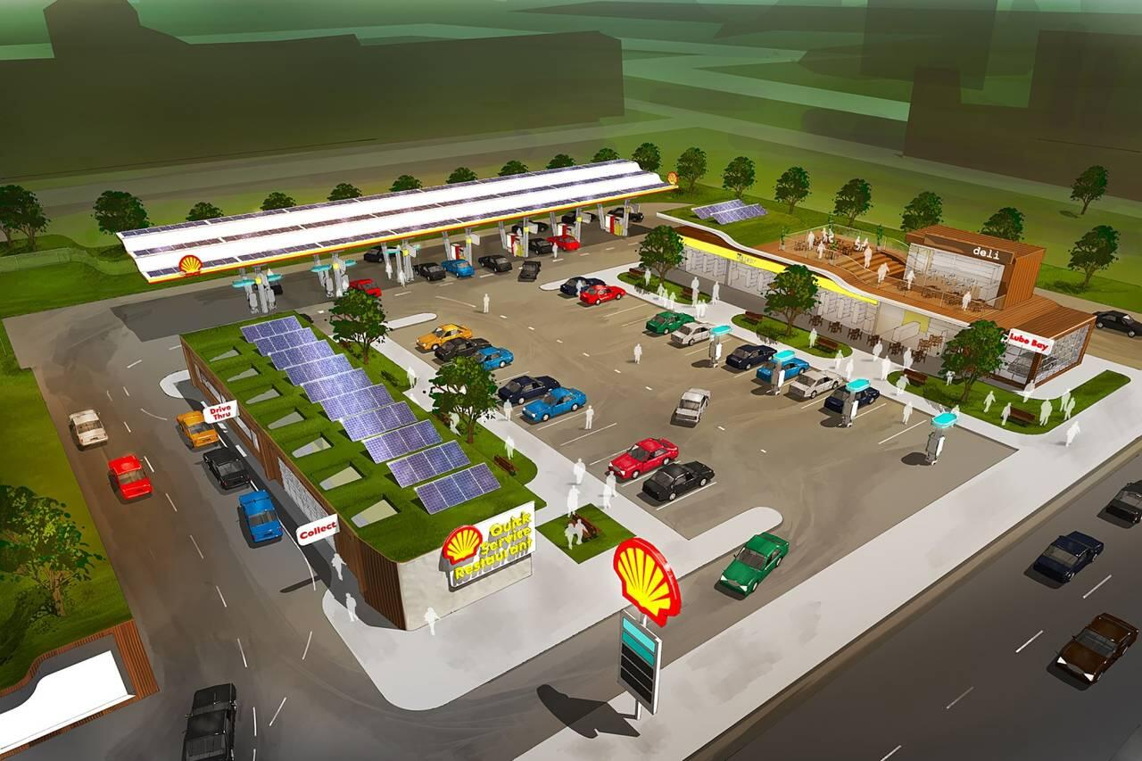 Shell gas station of the future