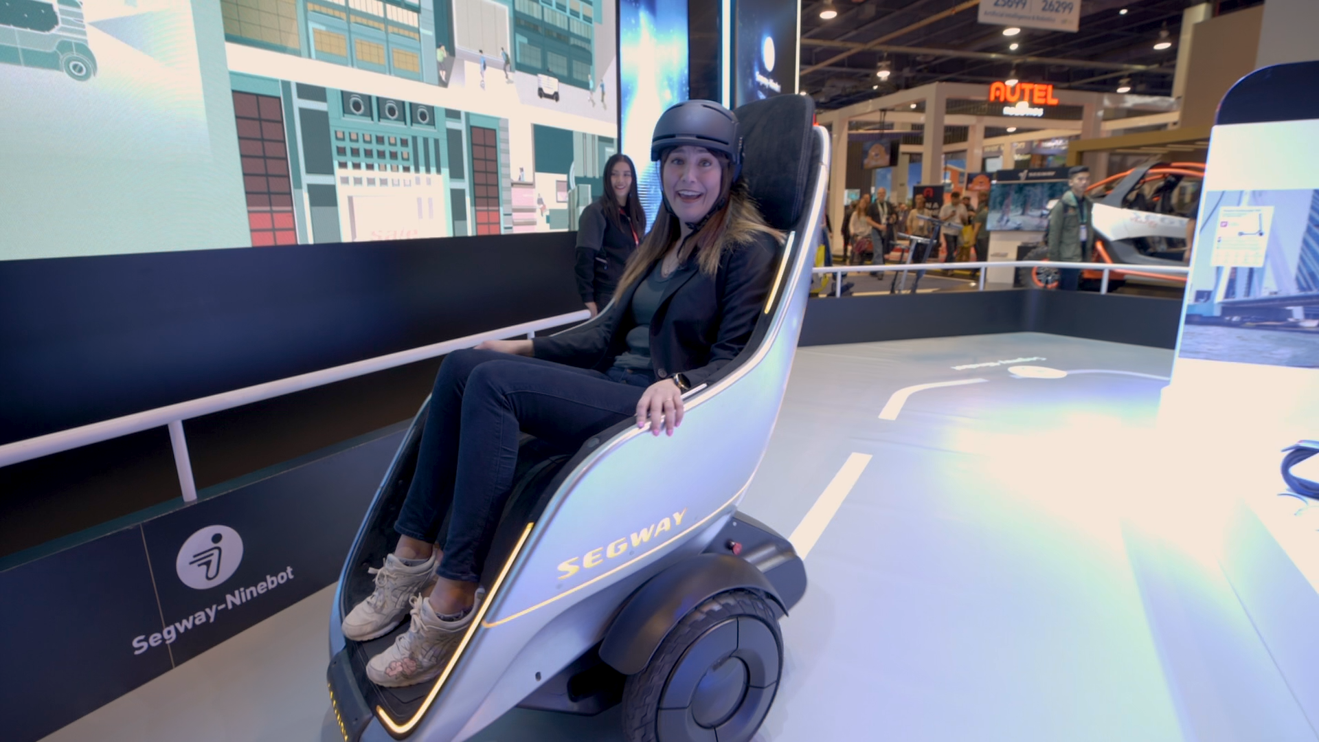 Video: Rolling around on the Segway S-Pod, a self-balancing chair