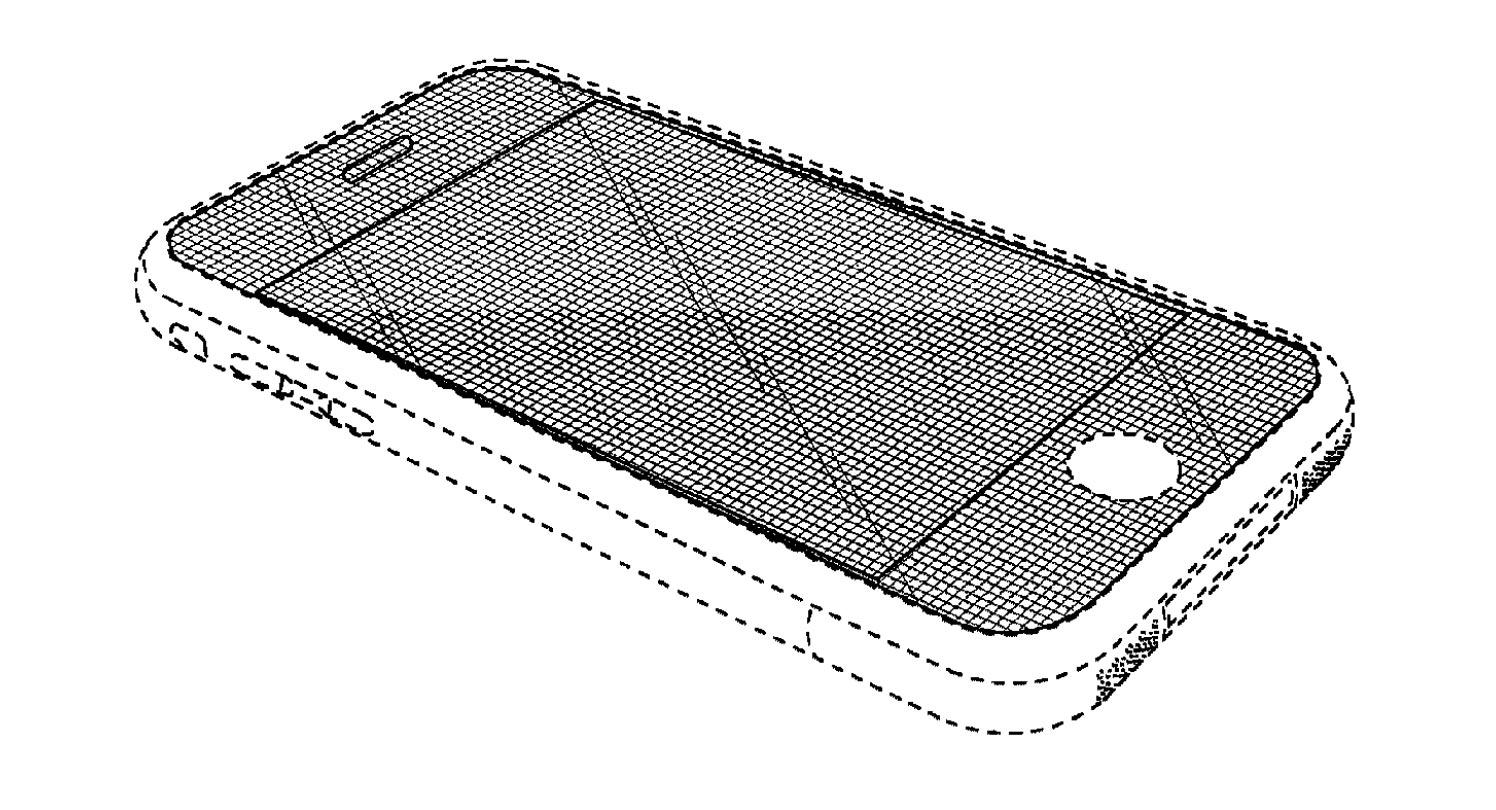 An illustration in Apple's US Patent No. D618,677 (D'677 patent)