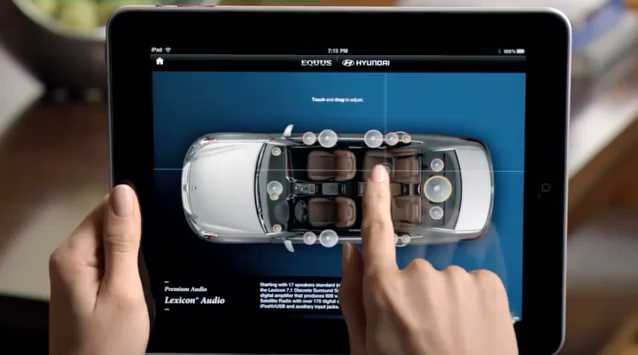 Hyundai encourages users to RTM by including an Apple iPad and an app-based owners manual with every new Equus.