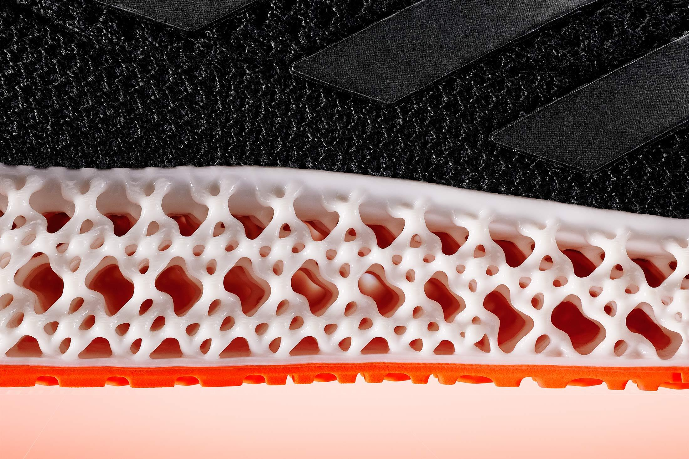 Adidas' 4DFWD 3D printed midsole