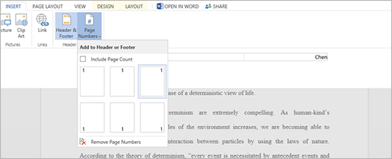 Basic word-processing features have arrived in the Word Web App, including headers, footers, and page numbers. The app also has a search-and-replace feature.