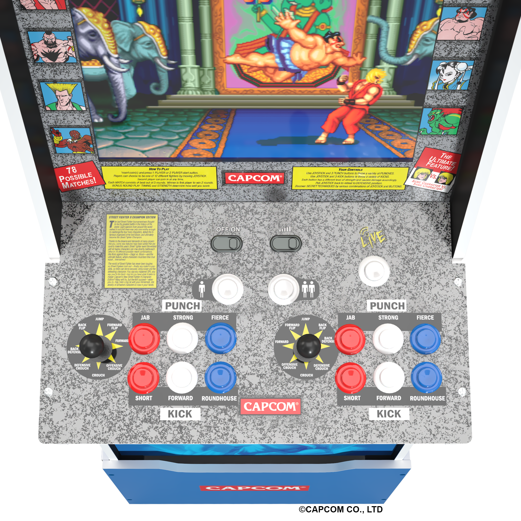 All the retro fighting action you need in one machine.
