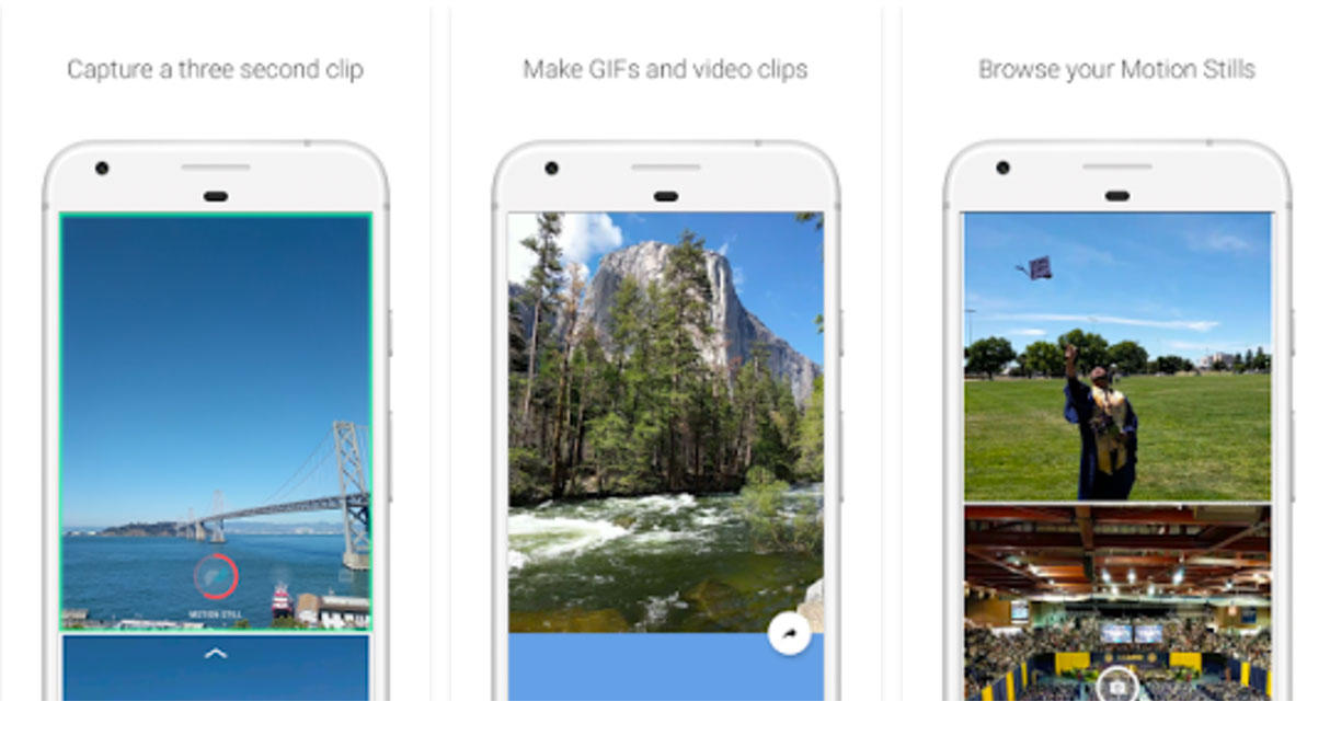 Google's Motion Stills app, now on Android and iOS, offers options to stabilize and share video.