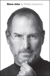 """The cover of """"Steve Jobs,"""" by Walter Isaacson."""