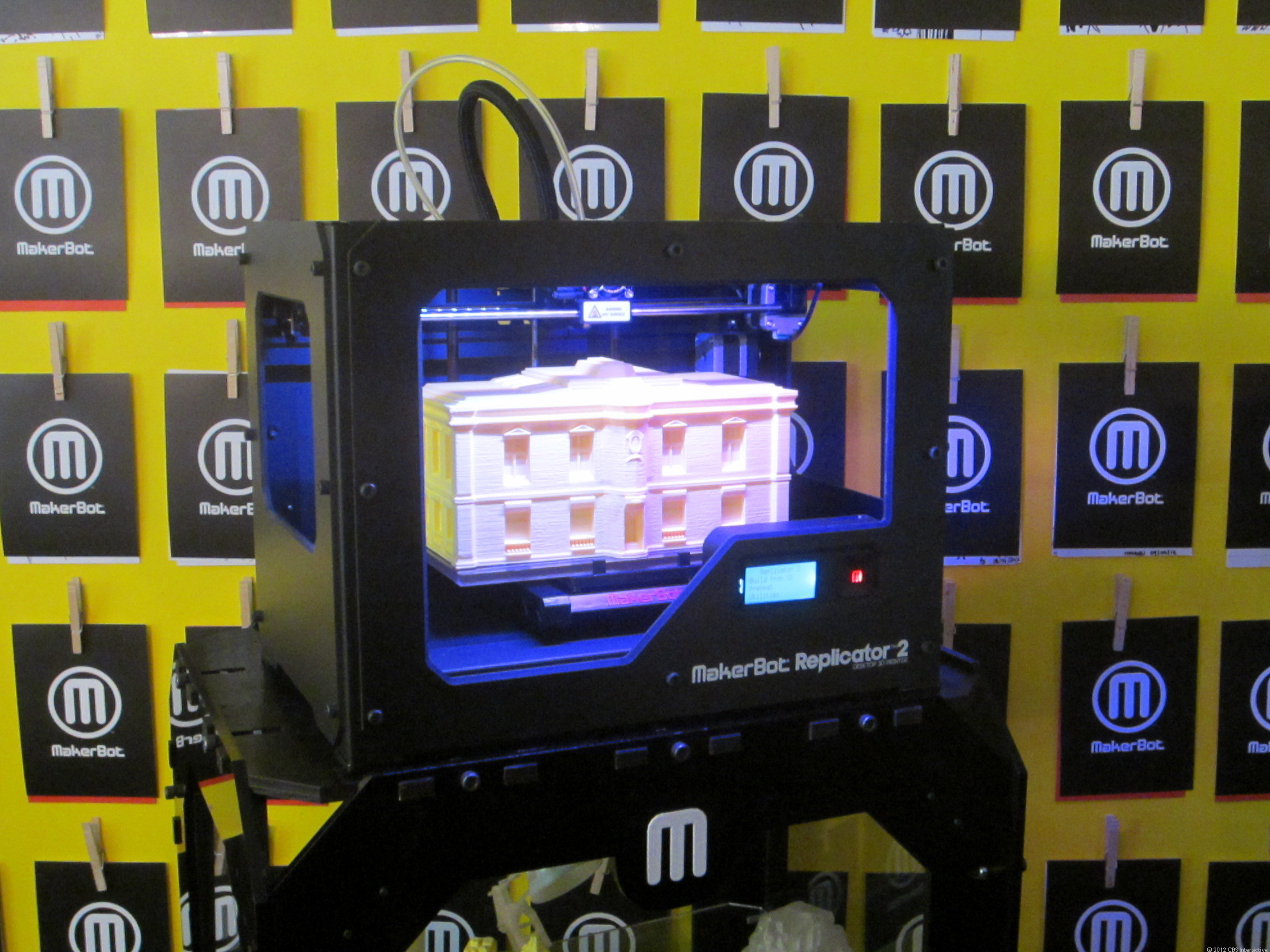 The MakerBot Replicator 2 can make larger, higher-quality prints than the previous model.