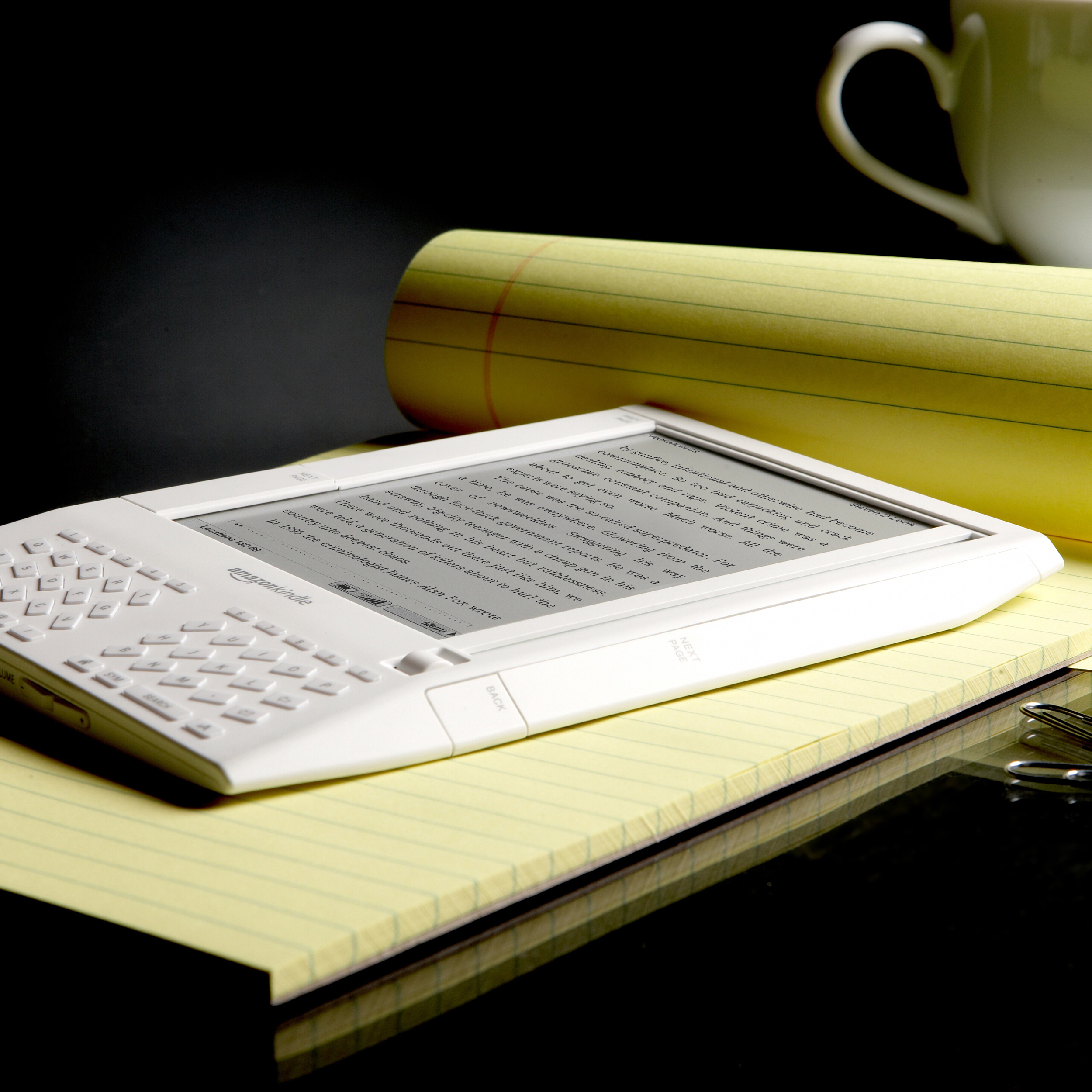 Amazon's Kindle e-book reader