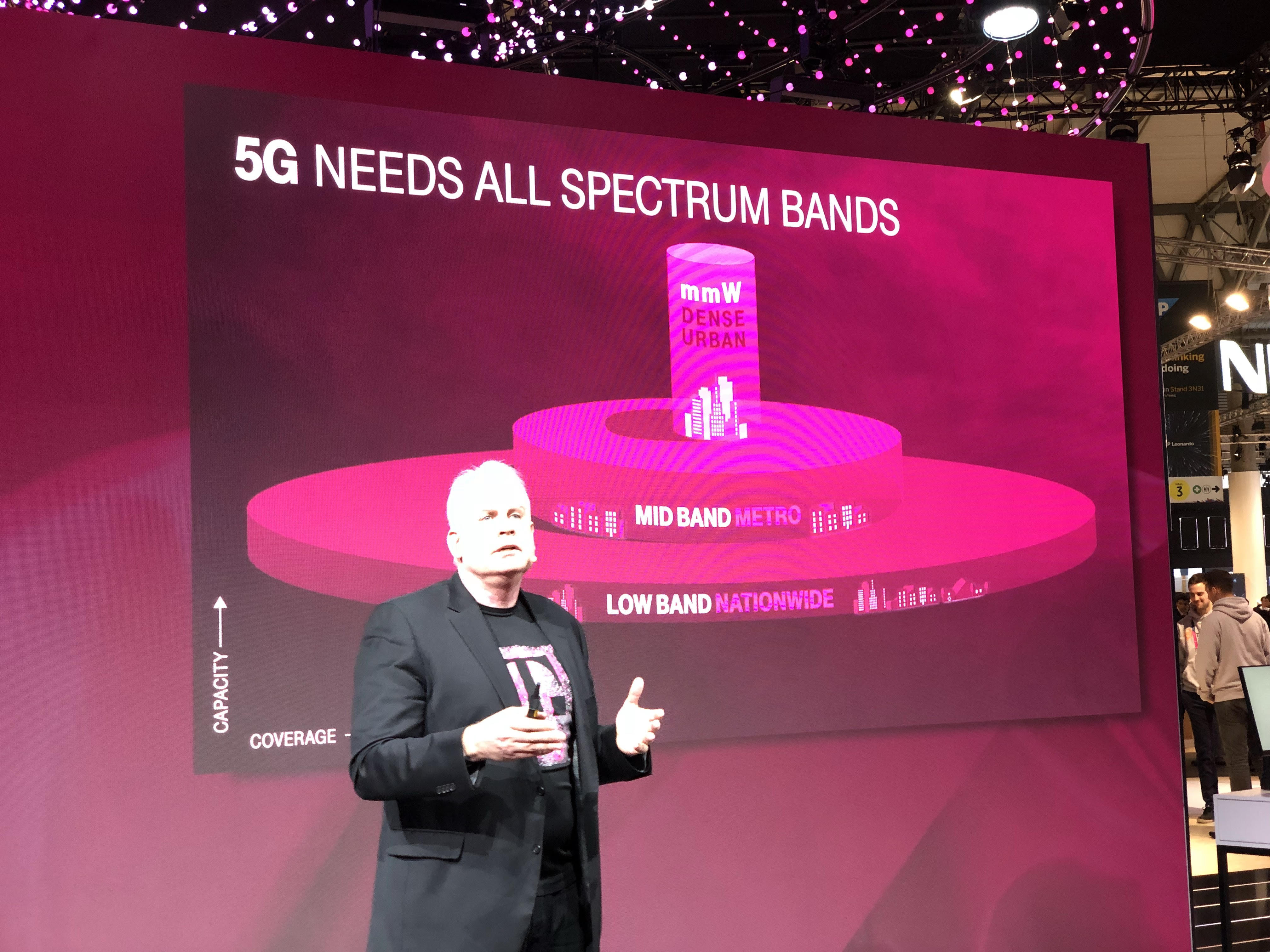 T-Mobile Chief Technology Officer Neville Ray at MWC 2018