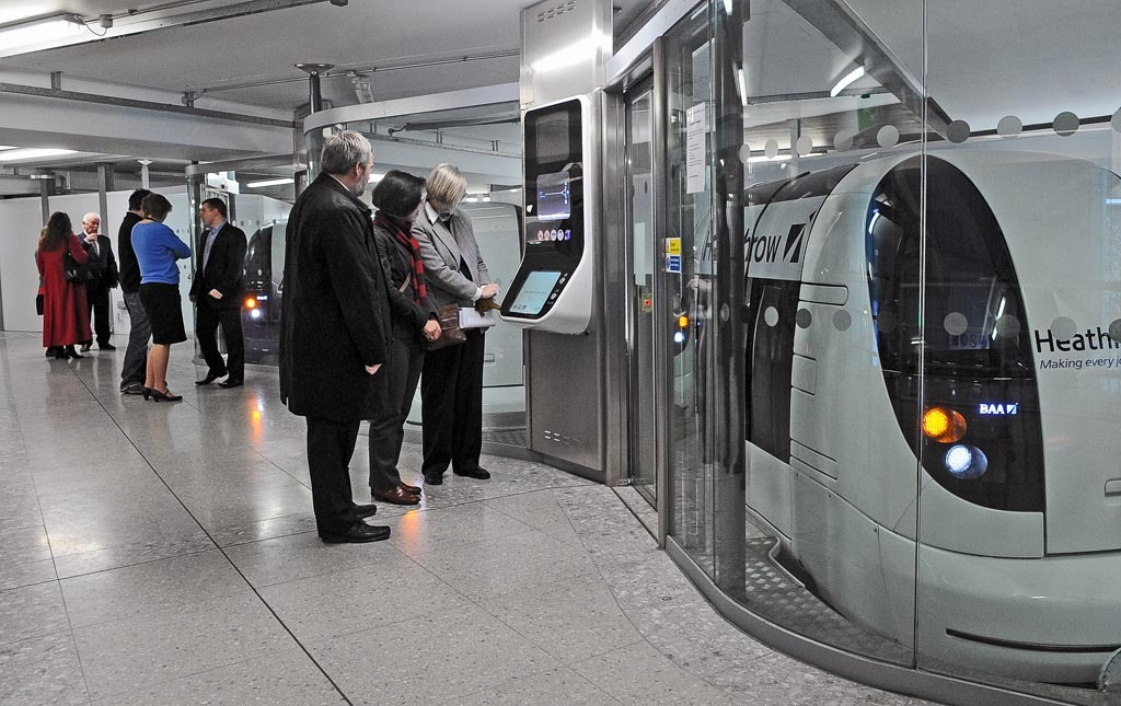 Passengers requesting pods at Terminal 5