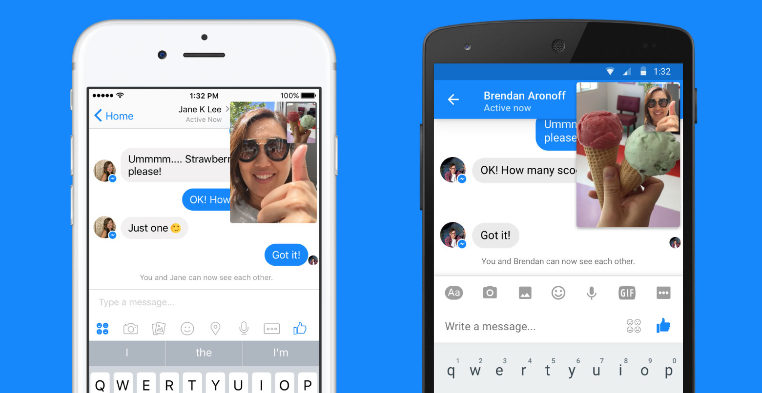 Facebook Messenger's instant video is designed to be a lightweight way to add live video to a text chat.