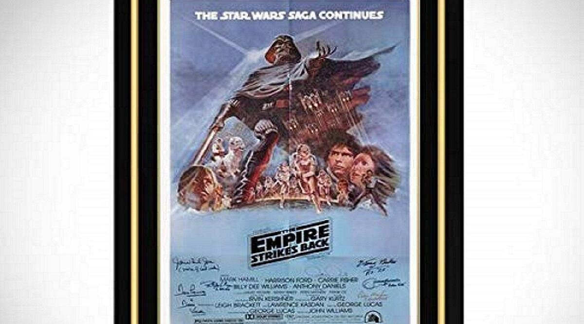 The Empire Strikes Back hand-signed vintage poster