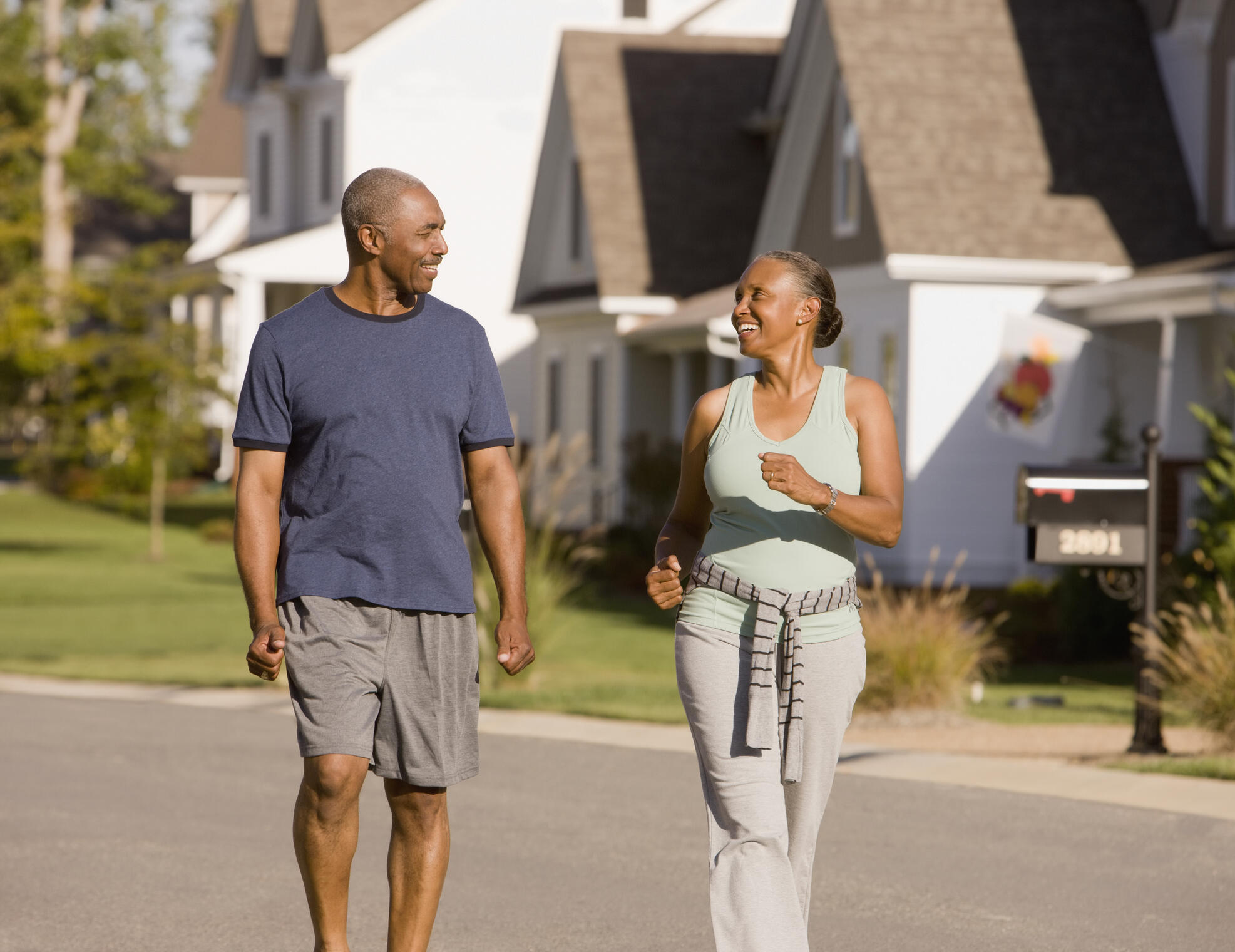 couple going on a walk outdoors