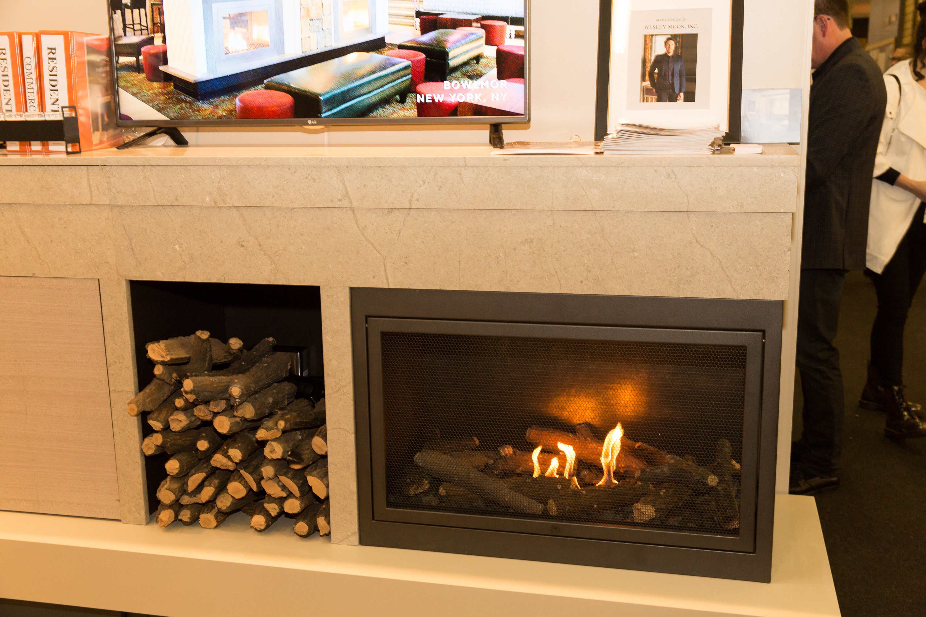 Hearth Cabinet ventless fireplace