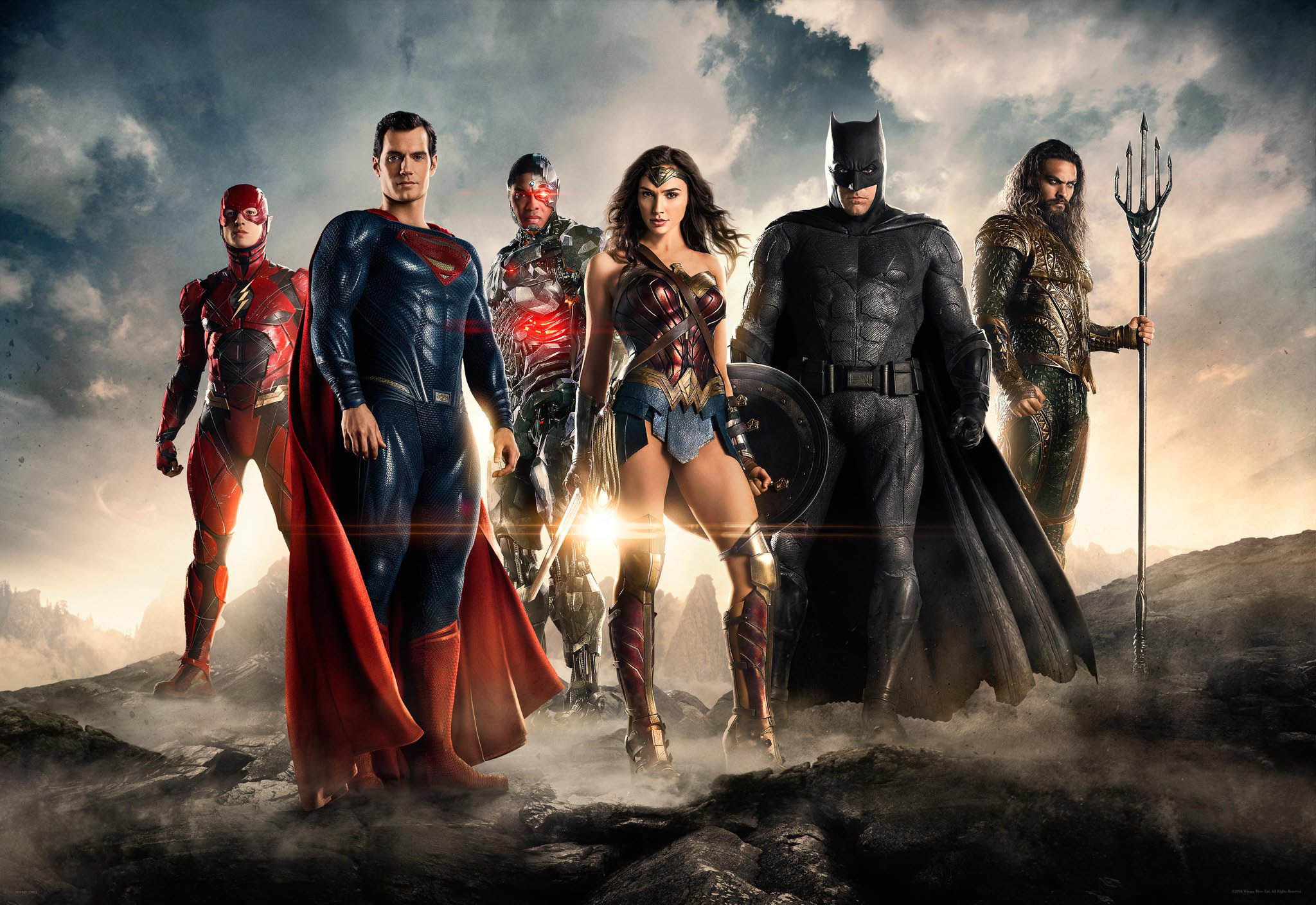 """Members of DC's """"Justice League"""" are among the crowd of caped crusaders coming to screens in 2017."""