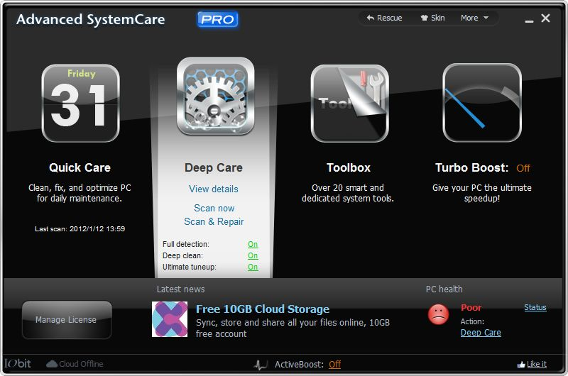Advanced SystemCare 5 Pro is free, but only through Valentine's Day.