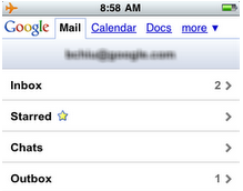 Gmail.com Outbox for iPhone/Android