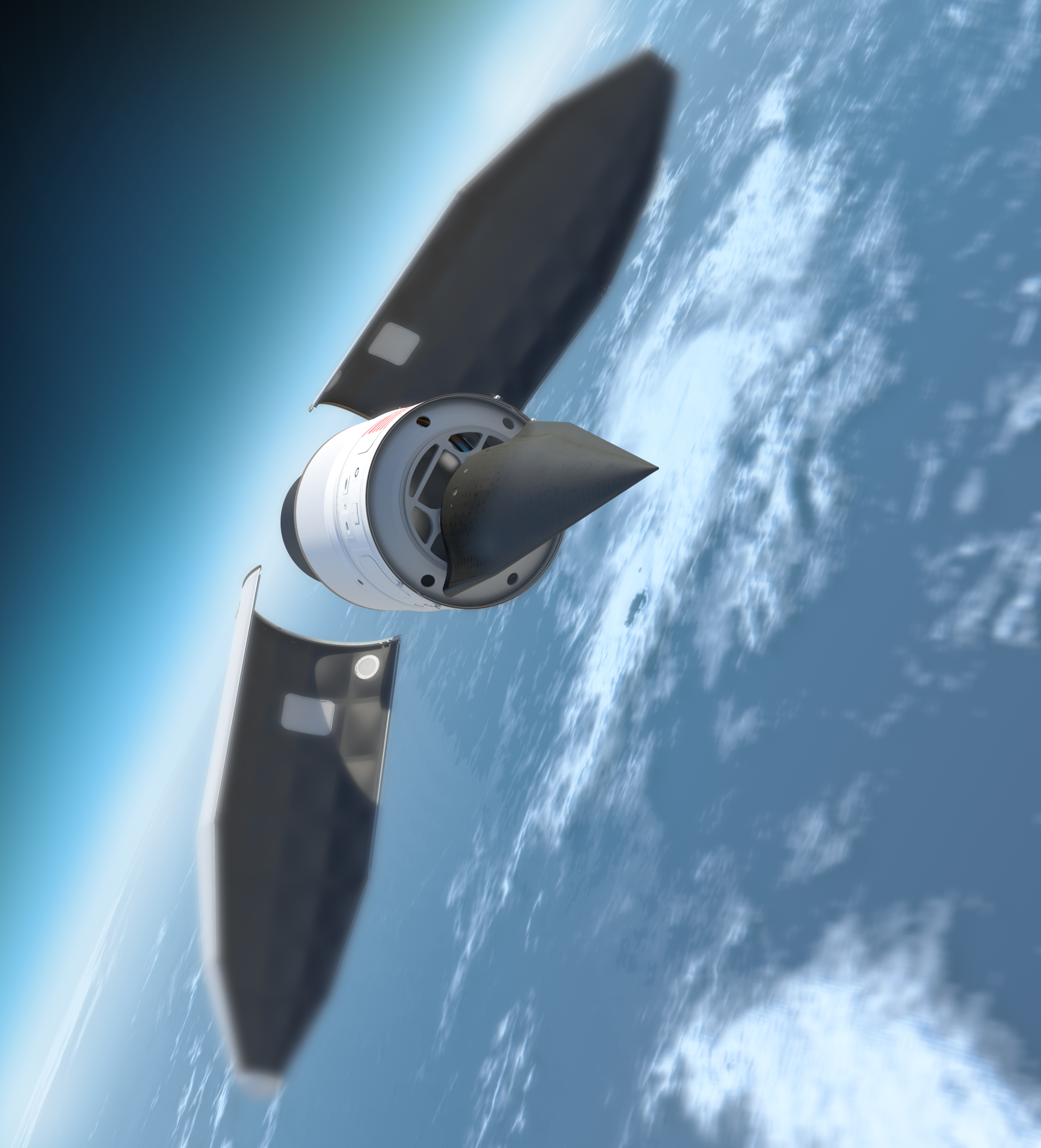 HTV-2 with rocket