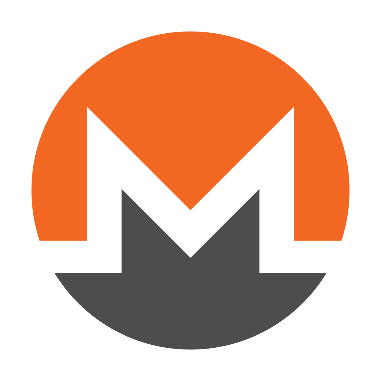 The Monero symbol -- a white, angular letter em in a circle that is orange above the em and gray below. Using a script called Coinhive, a website for fans of deepfake videos mined cryptocurrency Monero on visitors' computers, researchers found.