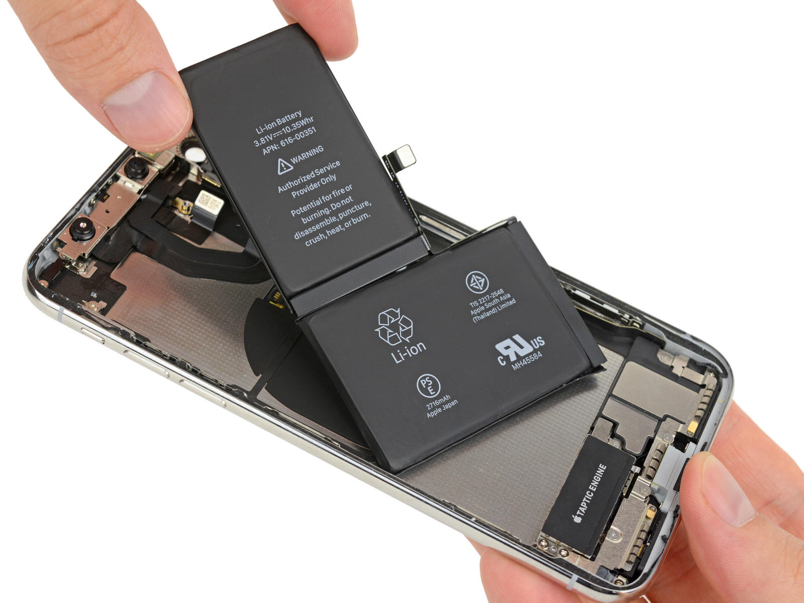 ifixit-iphone-x-dual-battery-two-batteries