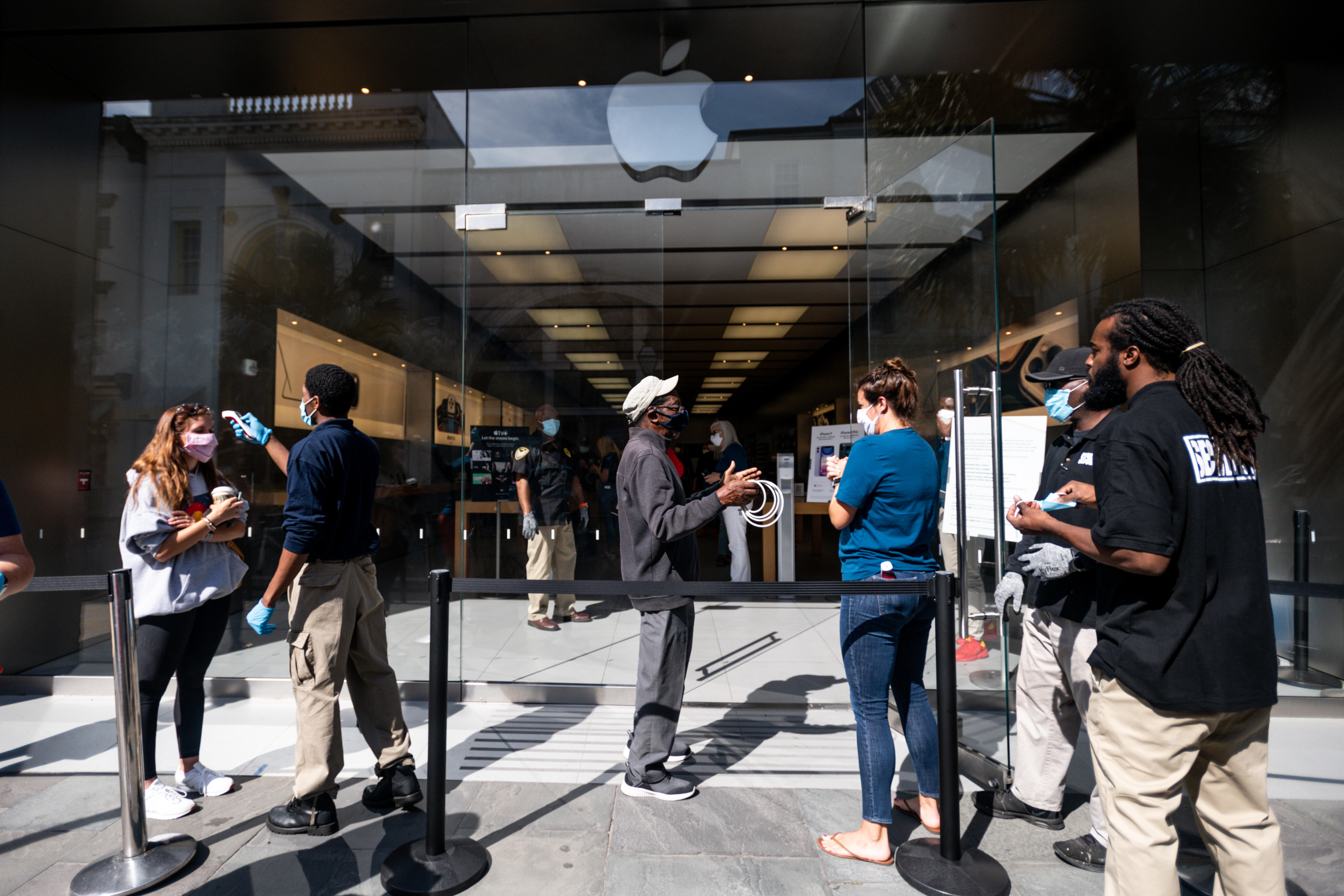 US: Apple stores open, with new rules