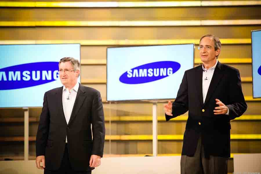 Samsung partners Comcast CEO Brian Roberts and Time Warner Cable CEO Glenn Britt
