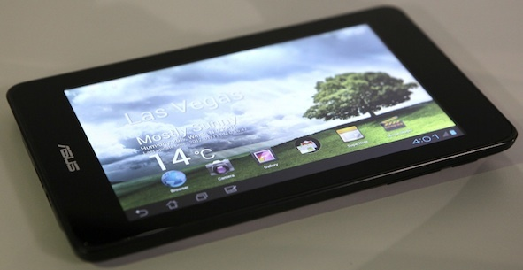 Asus Eee Pad MeMO 370T 7-inch tablet, announced at CES.  Originally thought to be a template for the Google tablet.